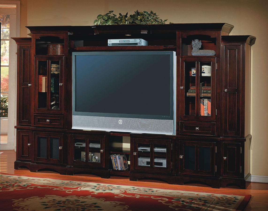 Cheap Parker House Cherry Hill 6 pc Entertainment Center