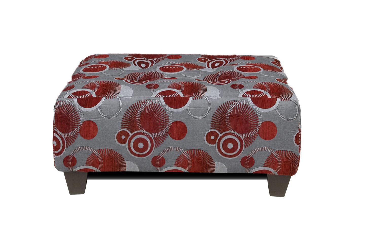 Chelsea Home Furniture Suzzy Ottoman - Celeste Ruby 100-Otto-CR