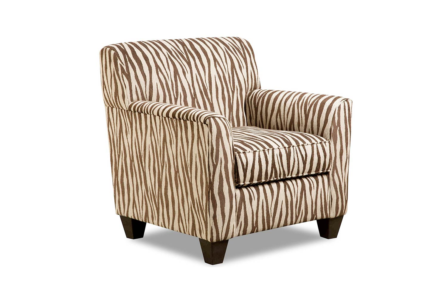 Chelsea Home Zaire Accent Chair - Zebra Chocolate