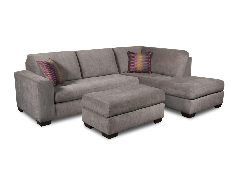 Chelsea Home Almeda Sectional Sofa Set Heather Seal CHF