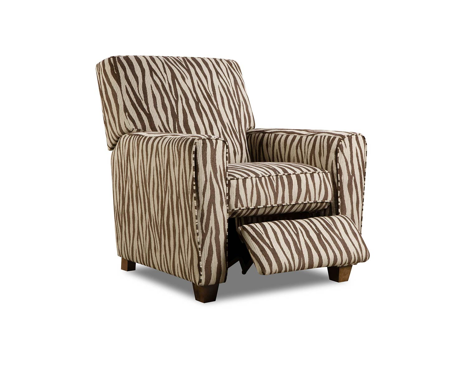 Chelsea Home Barras Recliner Chair - Zebra Chocolate