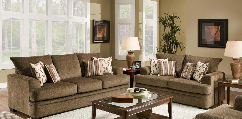 Chelsea Home Furniture Calexico Sofa Set - Cornell Cocoa 183652-1661-Sofa-Set