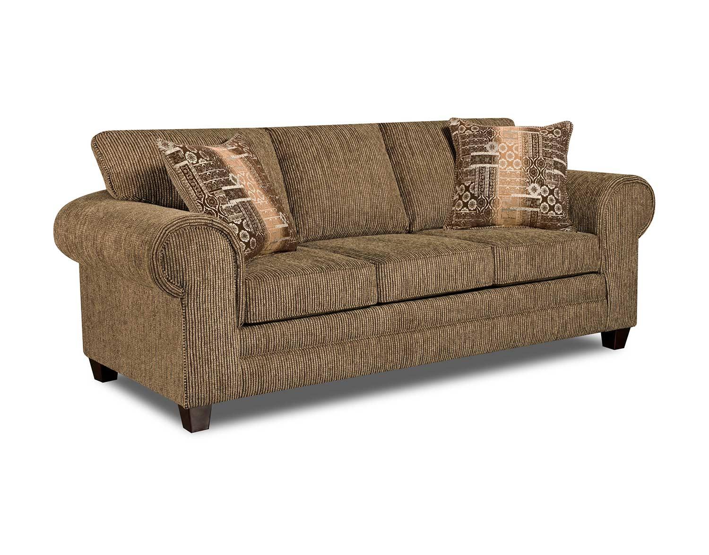 Chelsea Home Aiken Sofa - Dickens Hickory