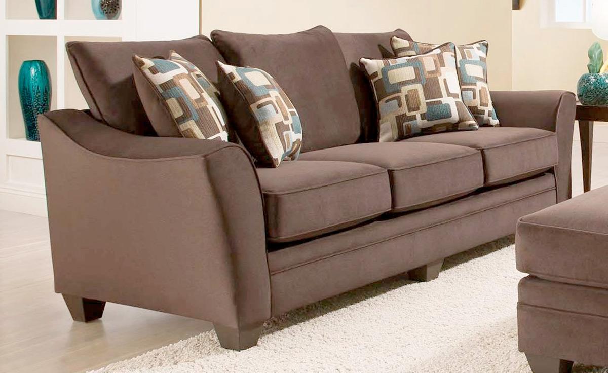 Chelsea Home Cupertino Sofa - Flannel Espresso