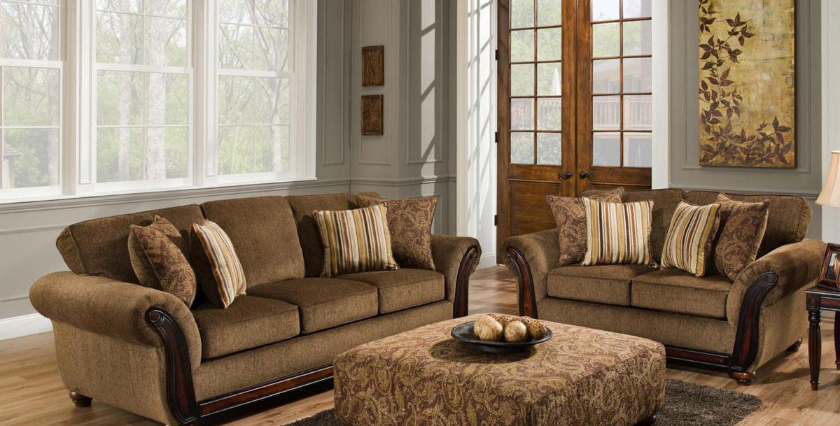 Chelsea Home Fairfax Sofa Set - Cornell Chestnut