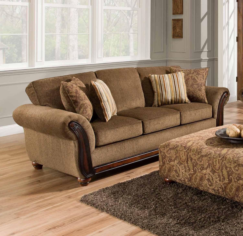 Chelsea Home Fairfax Sofa - Cornell Chestnut