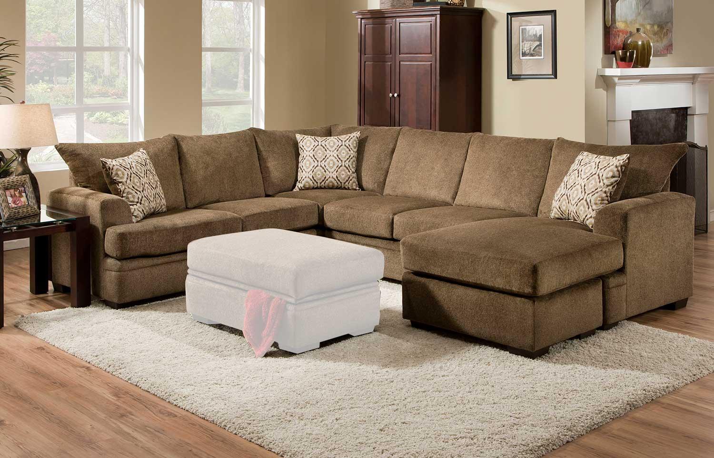 Chelsea Home Robbins Sectional Sofa Set - Cornell Cocoa