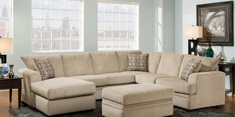 Chelsea Home Robbins Sectional Sofa Set - Cornell Platinum