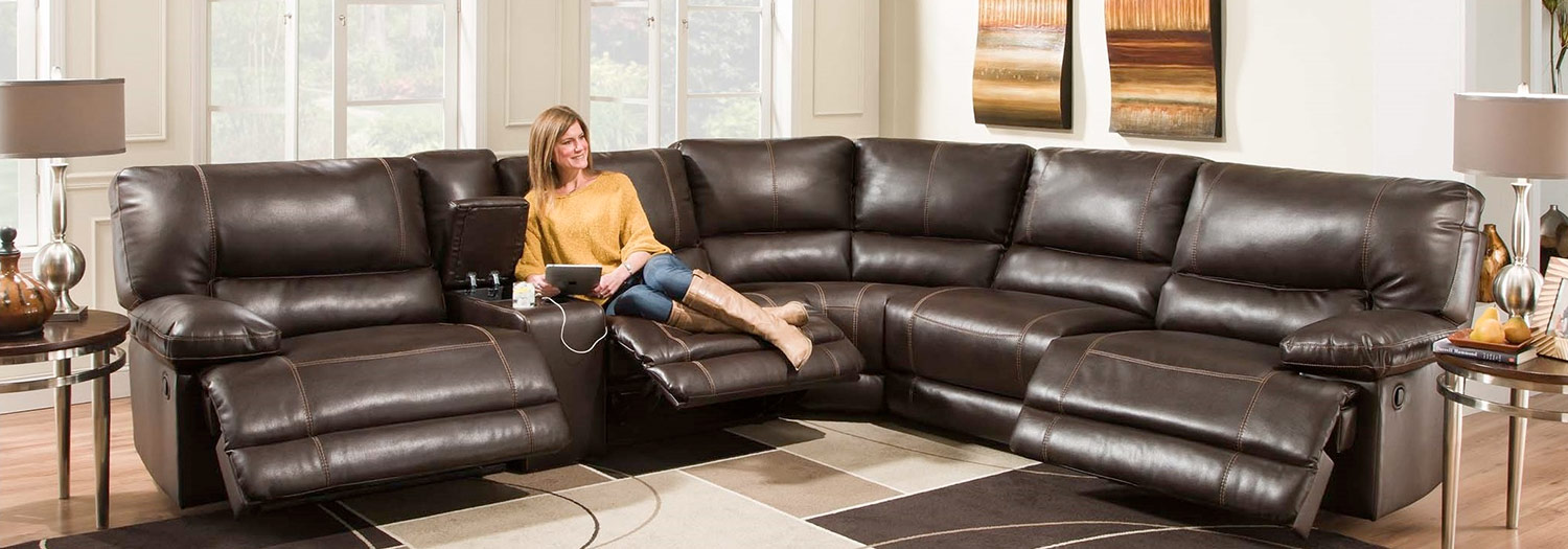 Chelsea Home Bane Power 6 pc Sectional Recliner Sofa set