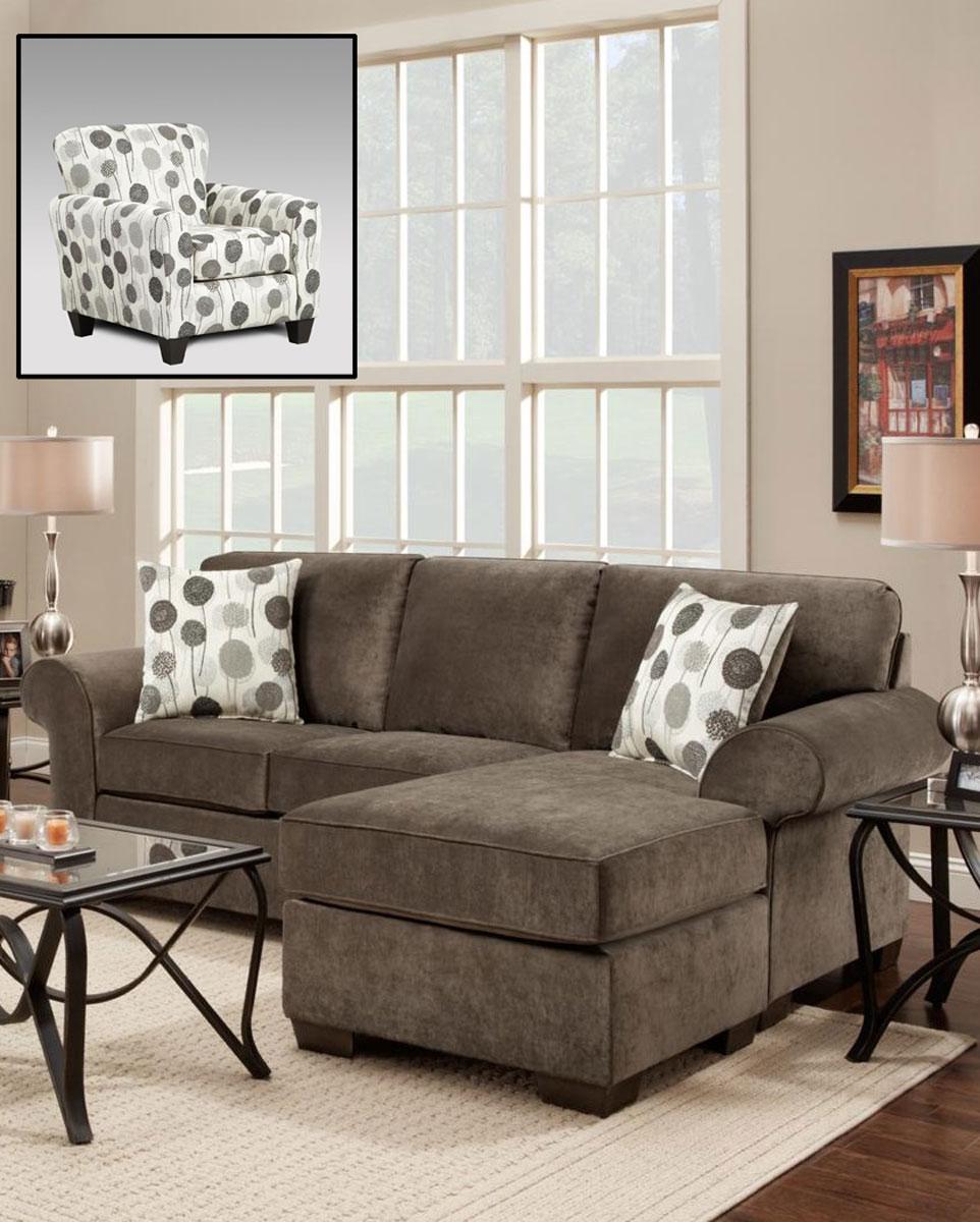 Chelsea Home Worcester Sofa Set - Elizabeth Ash/Wonderland Ash