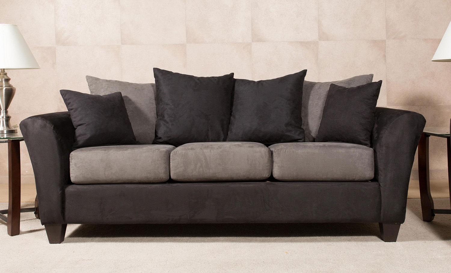 Chelsea Home Mansfield Sofa Black
