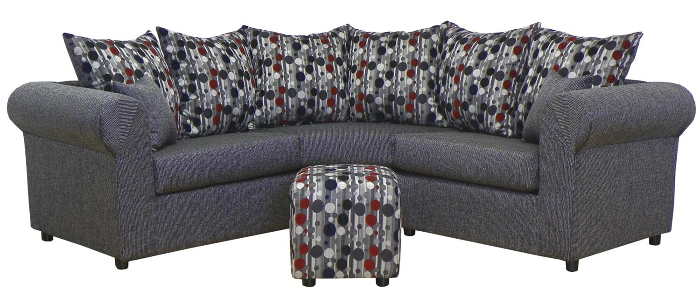 Chelsea Home Furniture Dawn Sectional Sofa Set - Object Charcoal/Kazoodle Carnival 23295-KC-Sec-Set