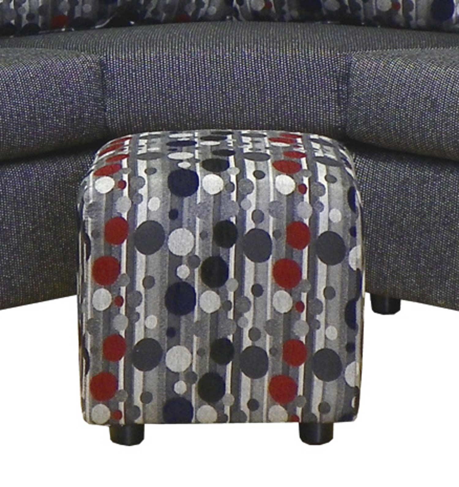 Chelsea Home Furniture Dawn Ottoman - Kazoodle Carnival 23295-O-KC