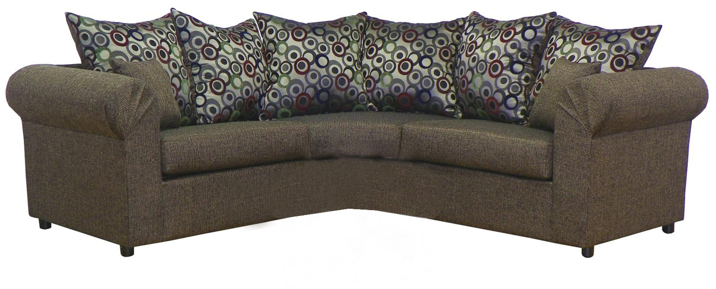 Chelsea Home Furniture Dawn 2 Piece Sectional Sofa - Object Cocoa/Bullseye Gemstone 23295-SEC-BG