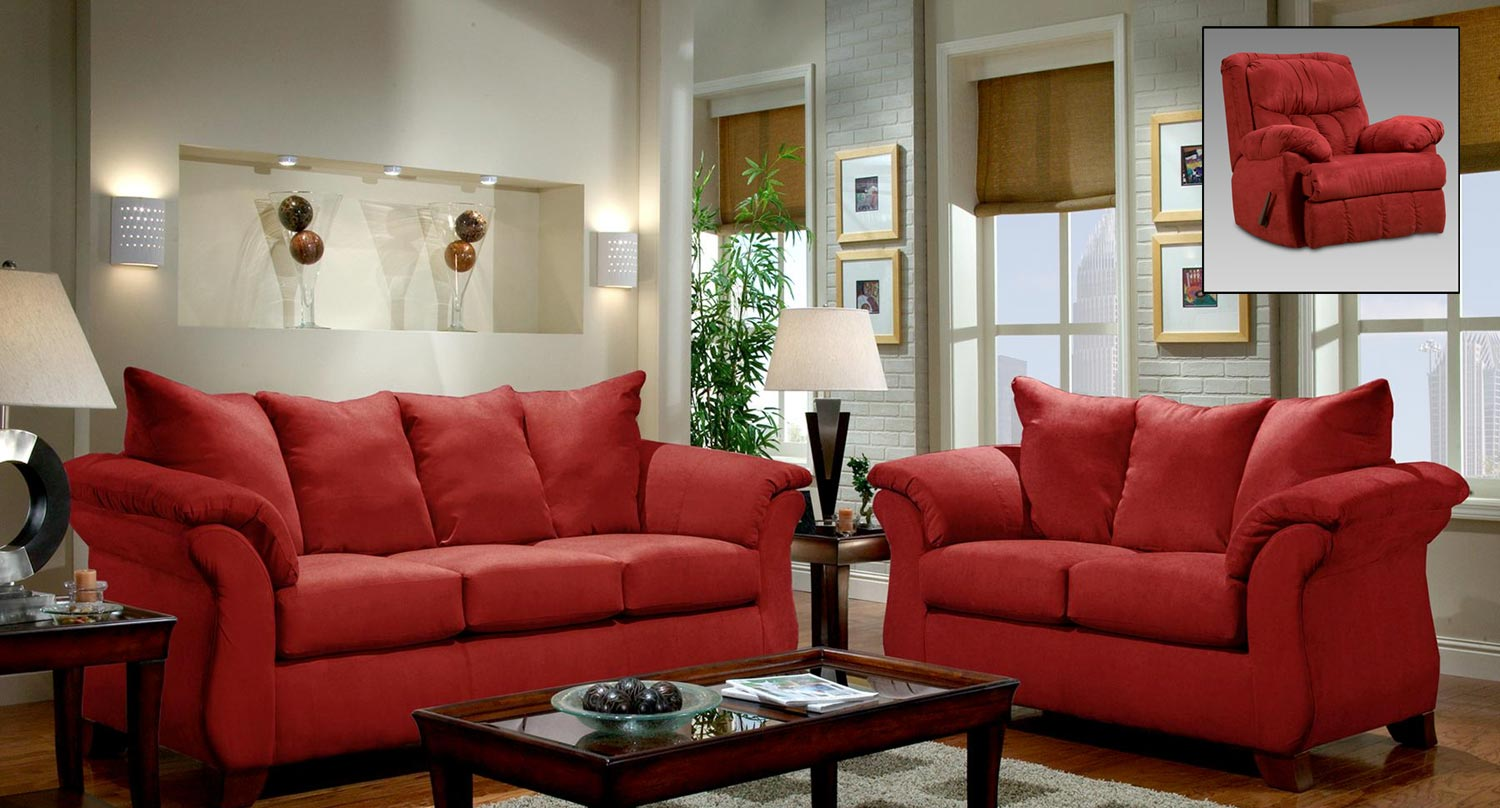 Chelsea Home Payton Sofa Set Red Brick Chf 2500 Rb Sofa Set At  ~ Payton Power Reclining Sofa