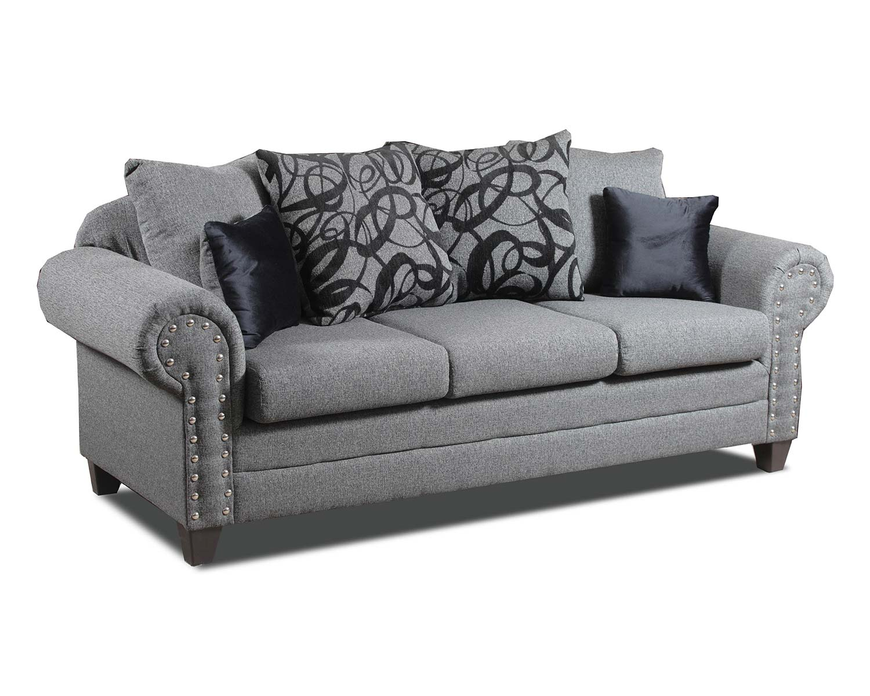 Chelsea Home Bennington Sofa - Grey