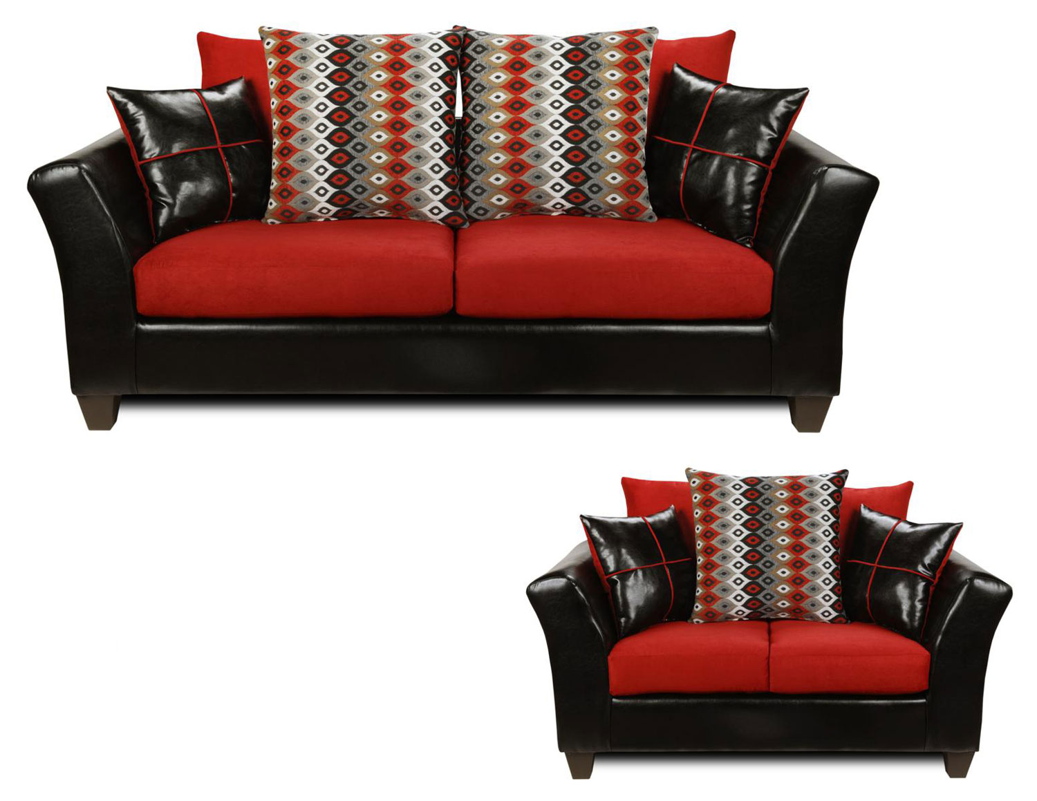 Cool Chelsea Home Cynthia Sofa Set Denver Black Victory Cardinal Download Free Architecture Designs Rallybritishbridgeorg