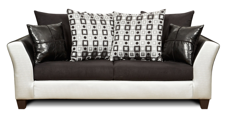 Chelsea Home Bates Sofa - Brown/White