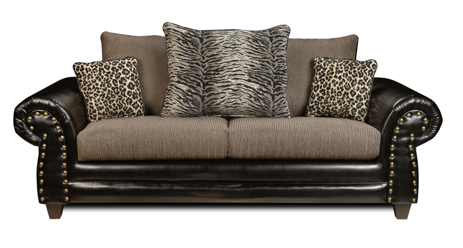 Chelsea Home Colbie Sofa - Denver Black/Romance Graphite