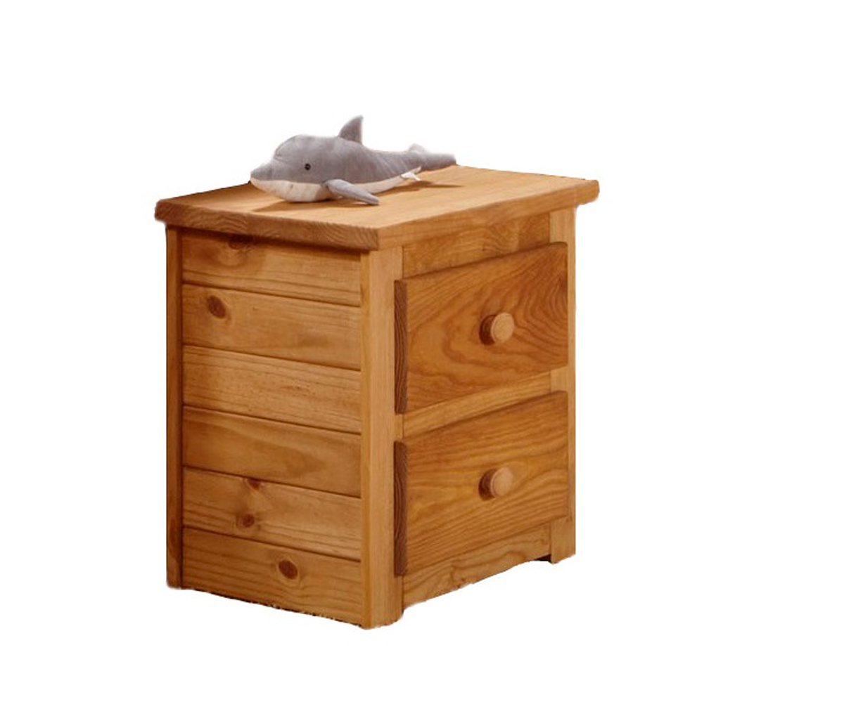 Chelsea Home 31002 2 Drawer Night Stand - Ginger Stain