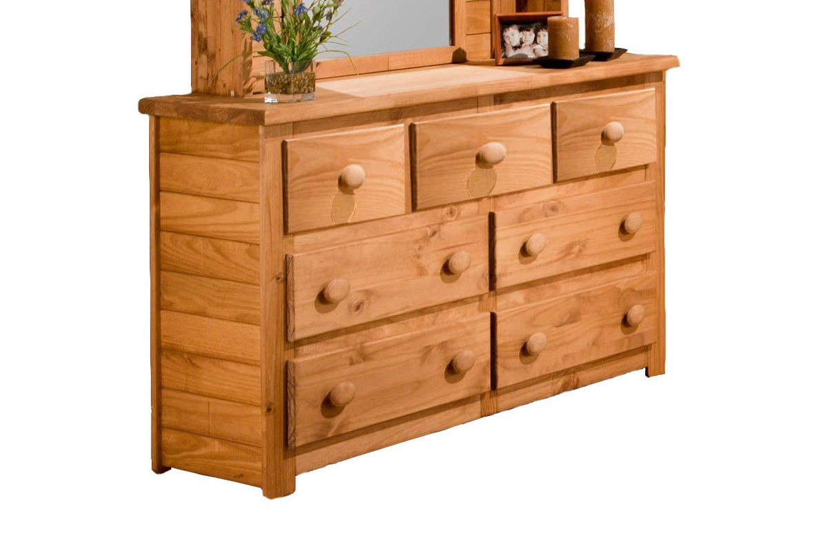 Chelsea Home 31007 7 Drawer Dresser - Ginger Stain