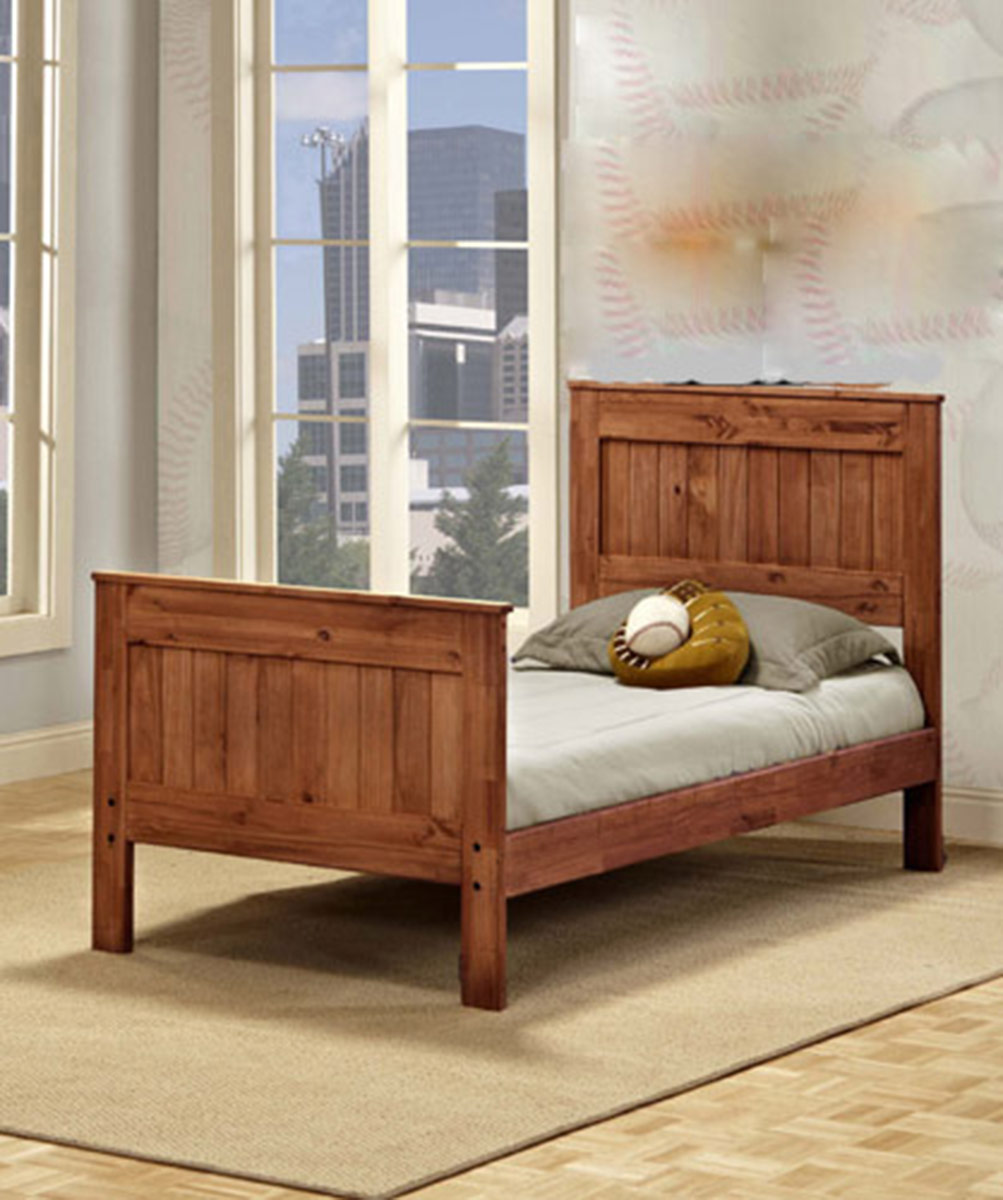 Chelsea Home Twin Mates Bed - Mahogany