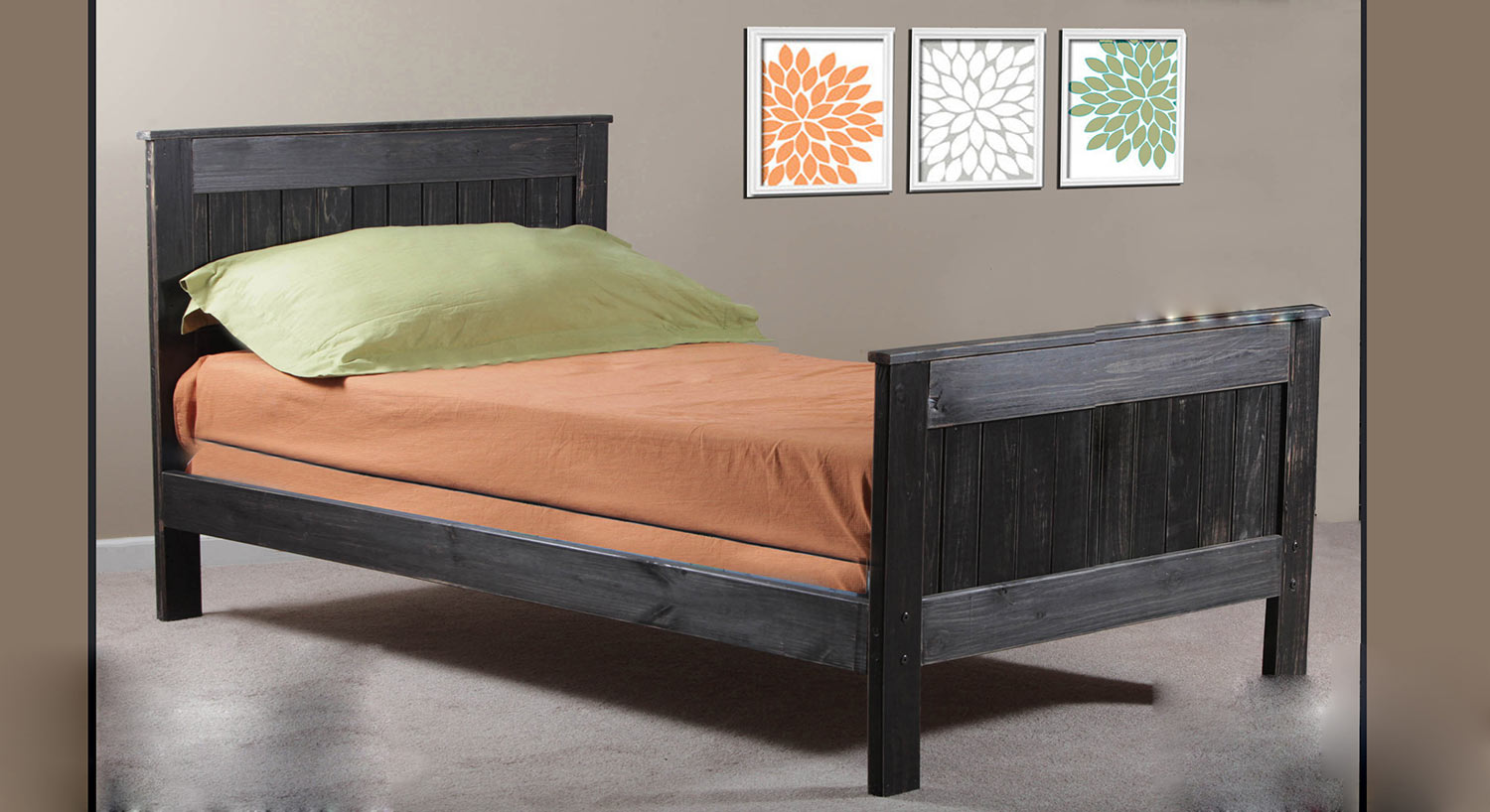 Chelsea Home Full Mates Bed - Black Distressed