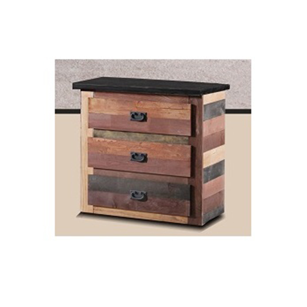 Chelsea Home 3 Drawer Chest - Multi-Color