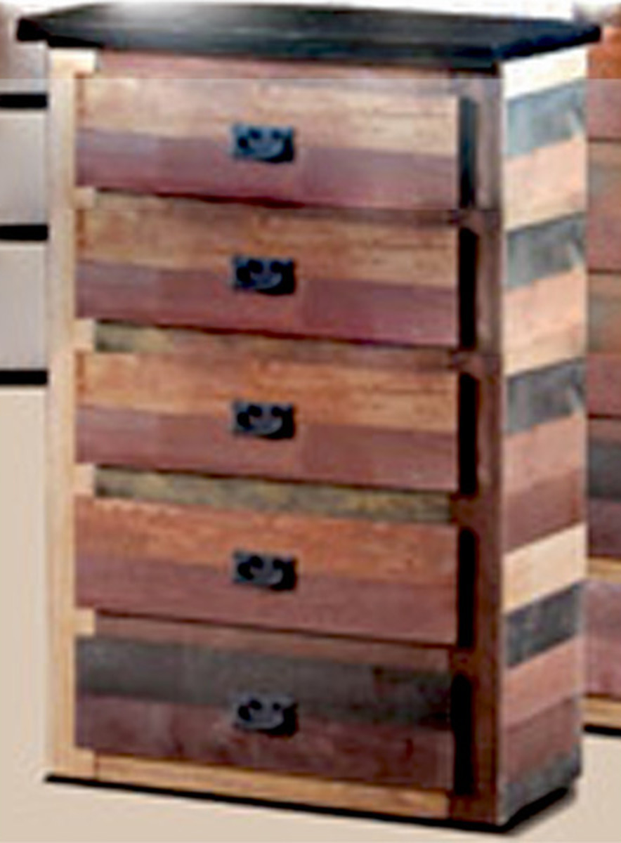 Chelsea Home 5 Drawer Chest - Multi-Color