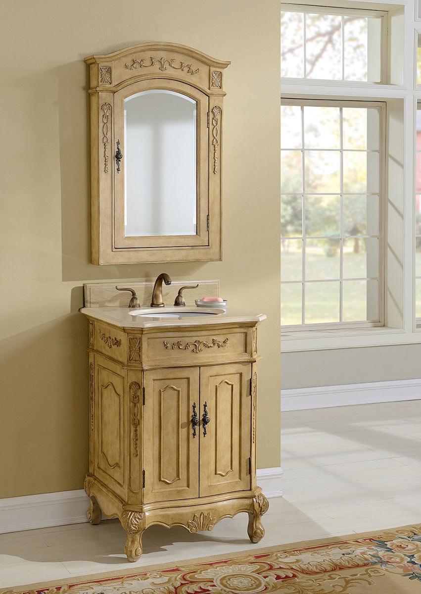 chelsea home cambridge 24inch vanity with medicine cabinet tan