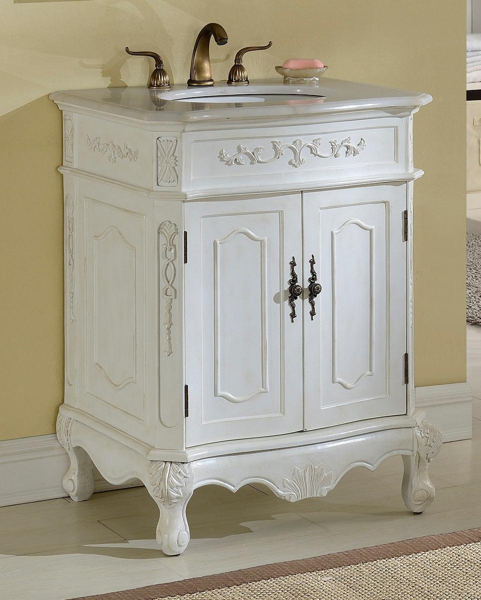 Chelsea Home Cambridge 27-inch Vanity - Antique White