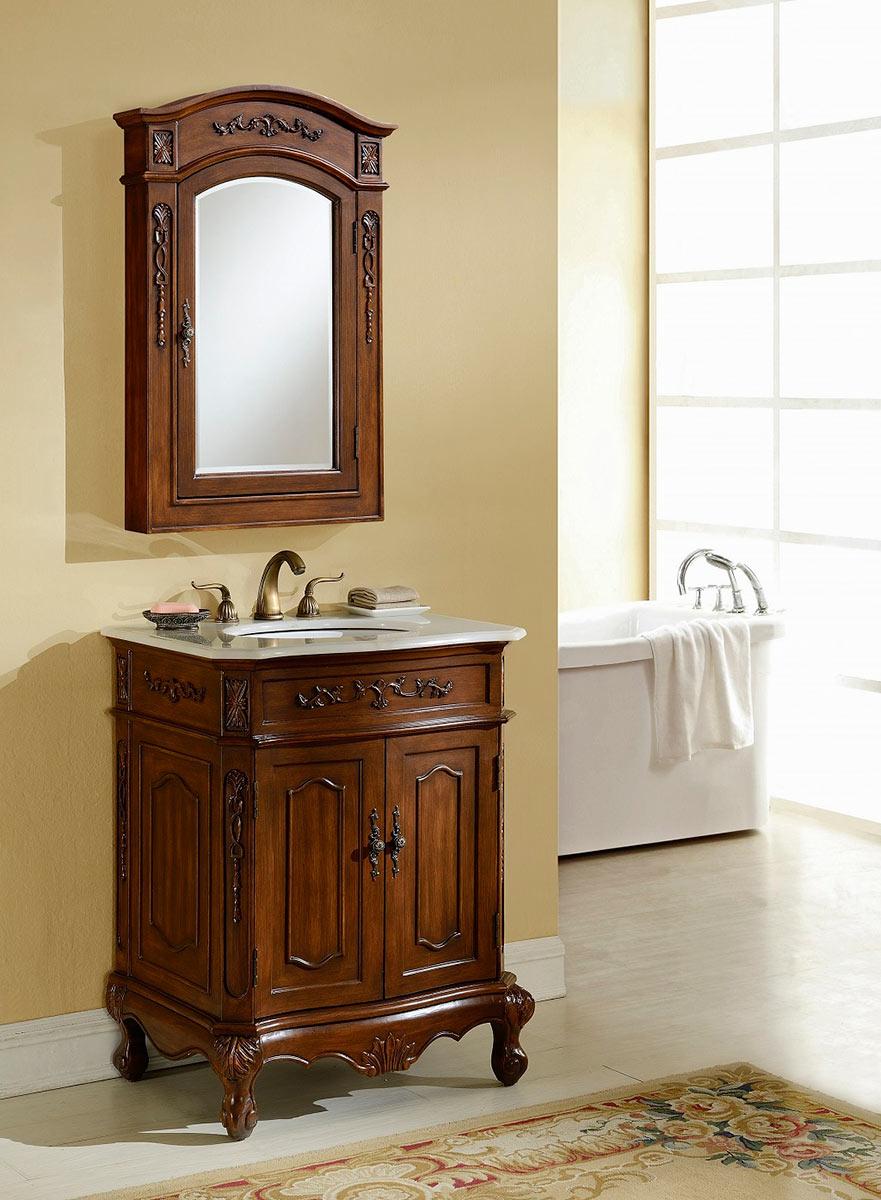 Chelsea Home Cambridge 27-inch Vanity With Medicine Cabinet - Teak