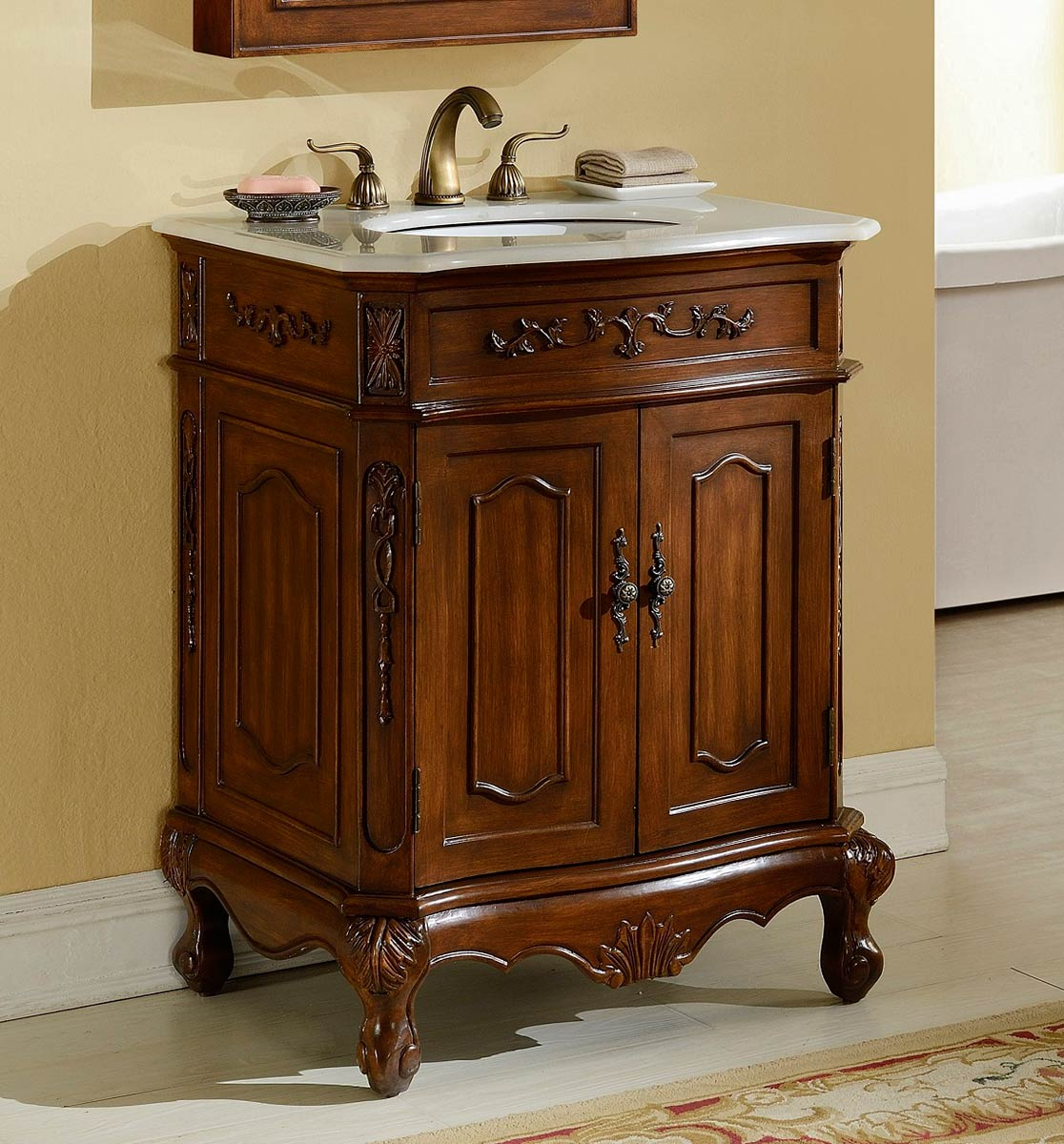 Chelsea Home Cambridge 27-inch Vanity - Teak
