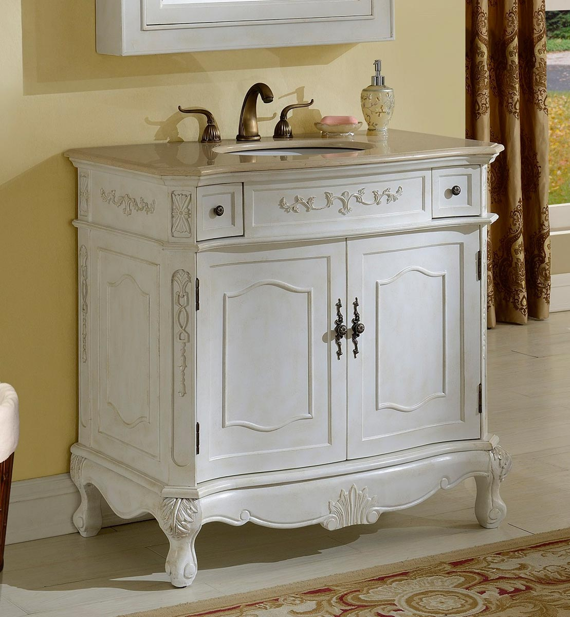 Chelsea Home Cambridge 36-inch Vanity - Antique White