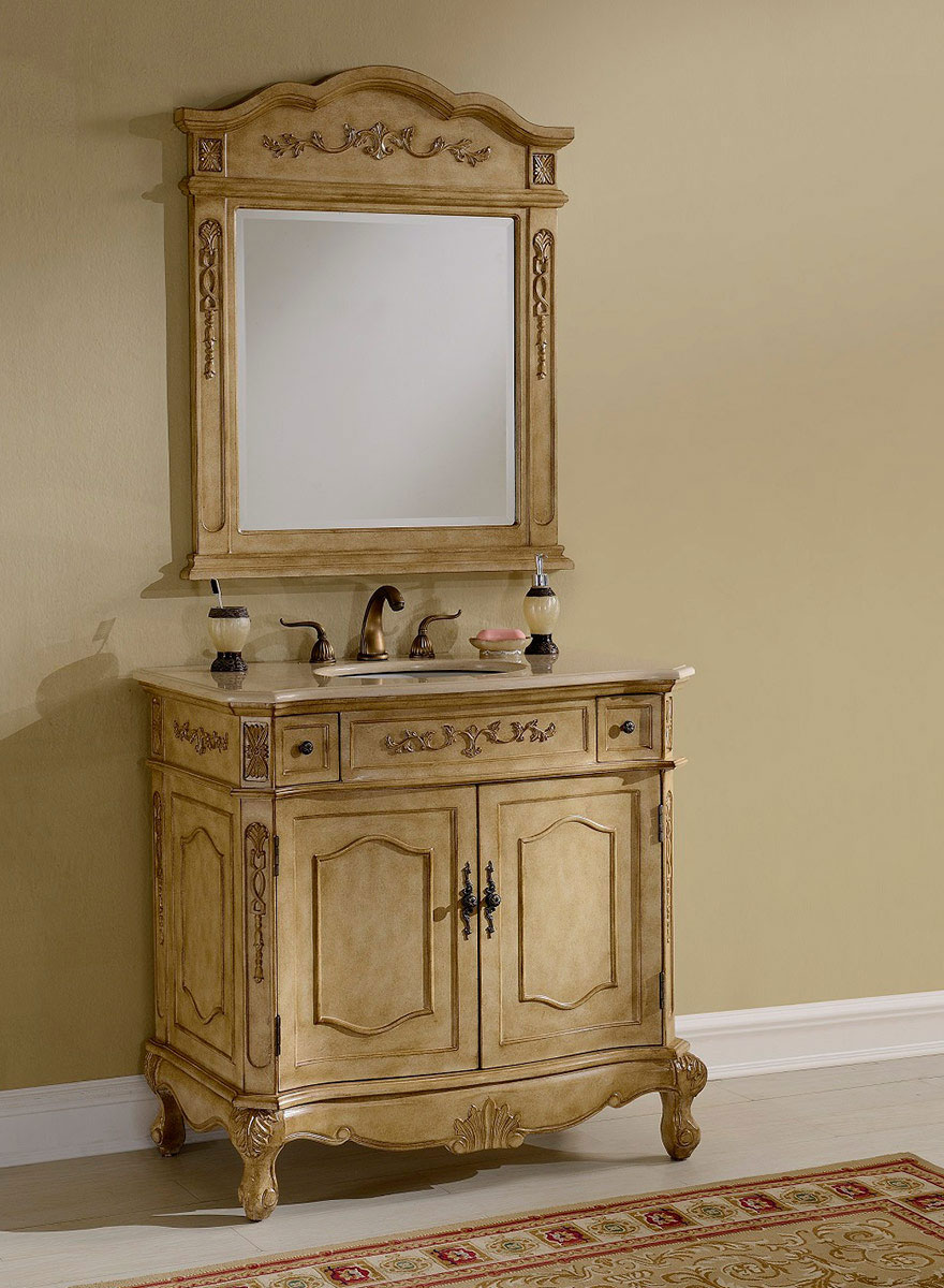 Chelsea Home Cambridge 36-inch Vanity With Medicine Cabinet - Tan