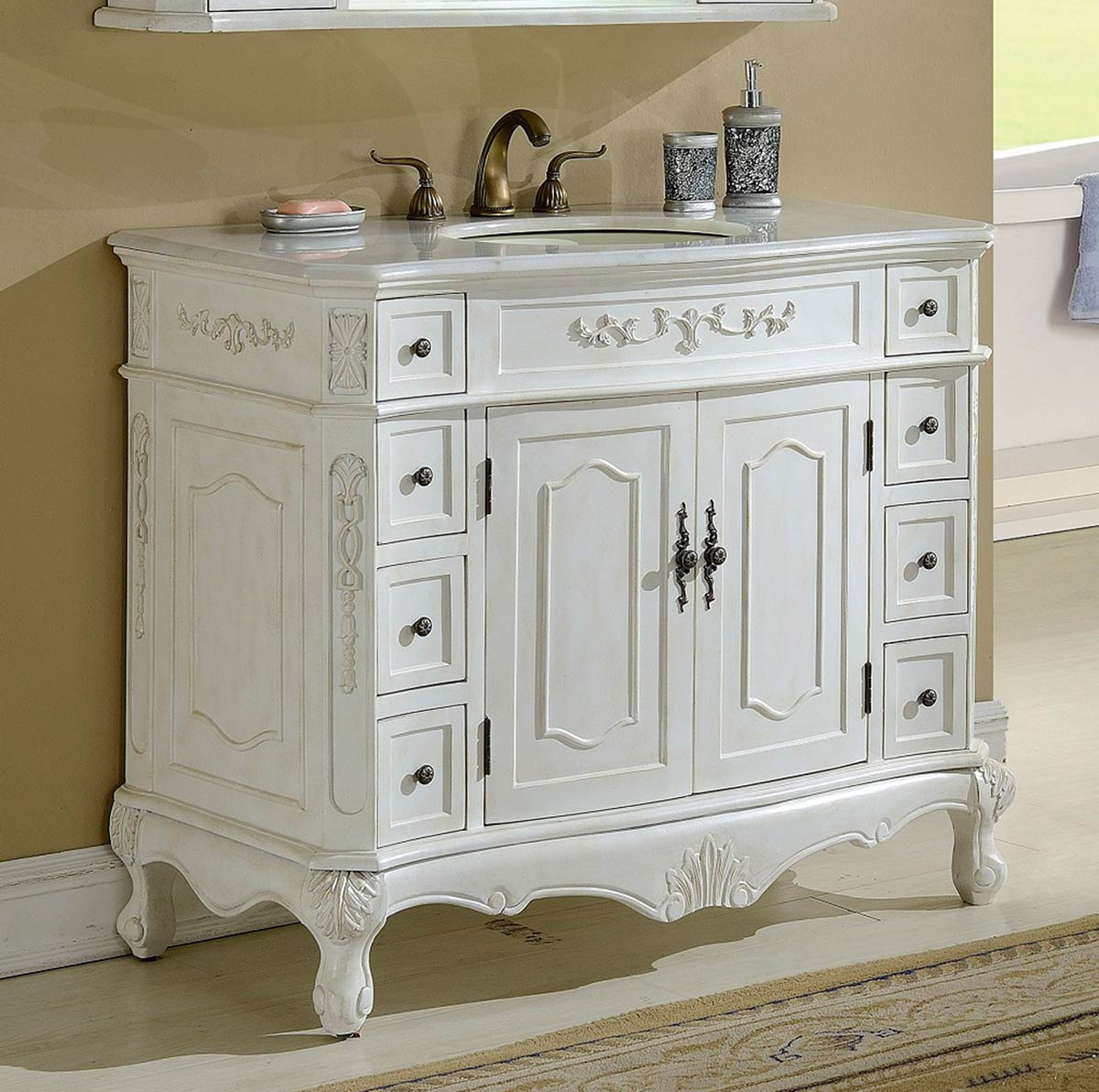 Chelsea Home Cambridge 42-inch Vanity - Antique White