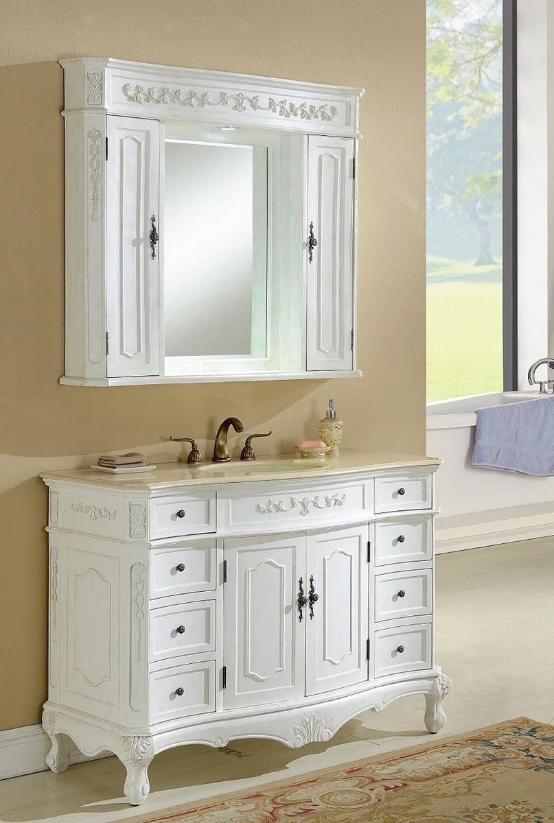 Chelsea Home Cambridge 48-inch Vanity With Medicine Cabinet - Antique White