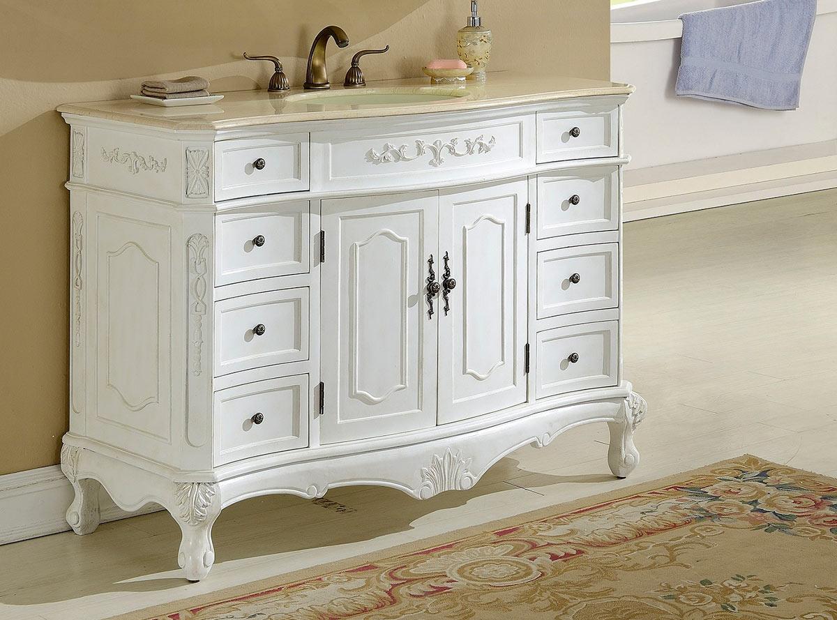 Chelsea Home Cambridge 48-inch Vanity - Antique White