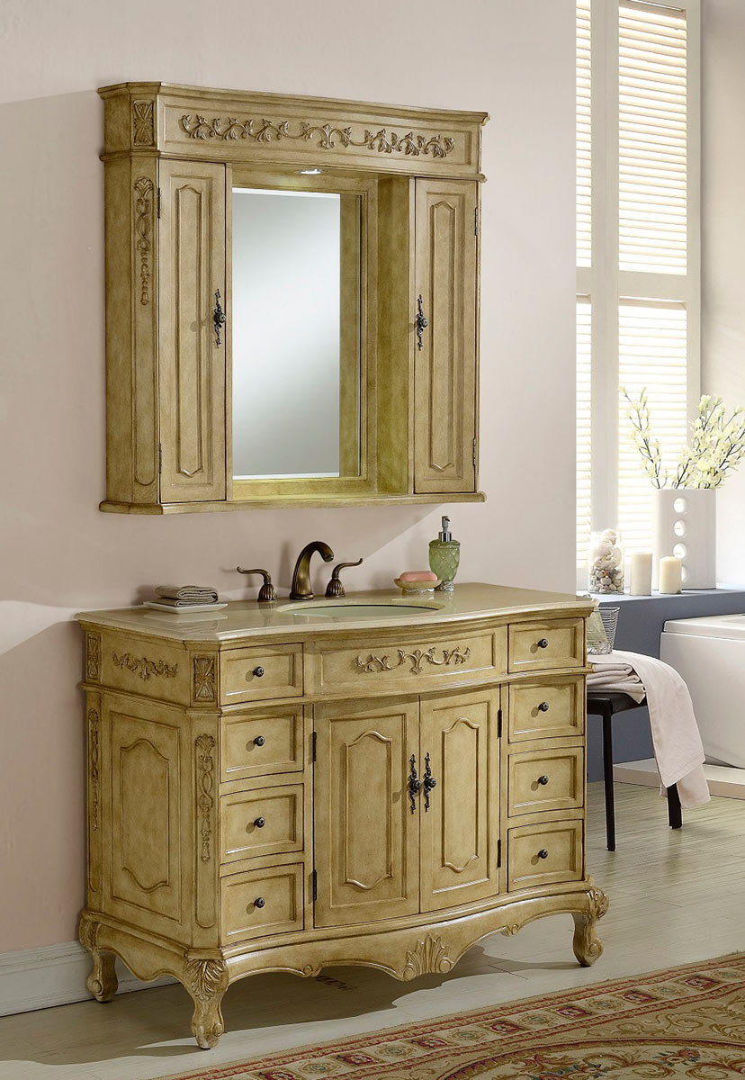 Chelsea Home Cambridge 48-inch Vanity With Medicine Cabinet -Tan