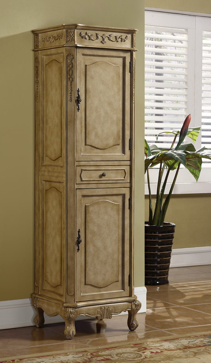Chelsea Home Cambridge Linen Cabinet -Tan