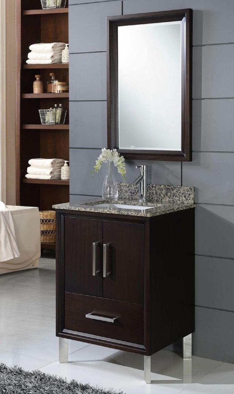 Chelsea Home Luna 24-inch Vanity with Medicine Cabinet - Espresso