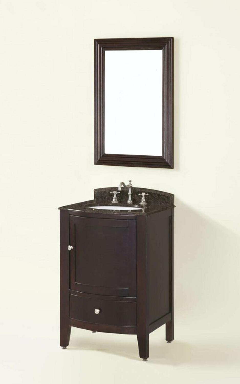 Chelsea Home Loft 24-inch Vanity with Mirror - Espresso