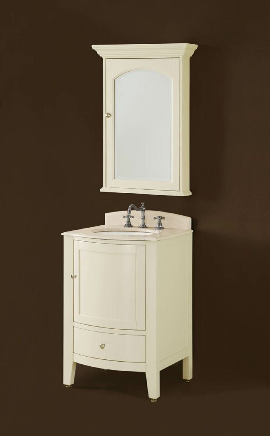 Chelsea Home Loft 24-inch Vanity with Mirror - Ivory