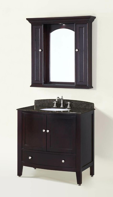 Chelsea Home Loft 36-inch Vanity with Medicine Cabinet - Espresso