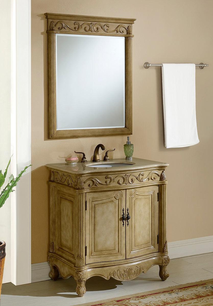 Chelsea Home Villa 32-inch Vanity with Mirror - Tan