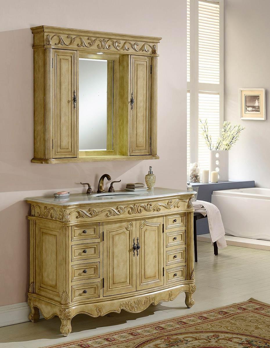 Chelsea Home Villa 48-inch Vanity with Medicine Cabinet - Tan