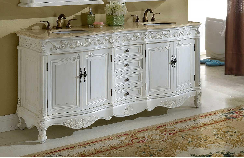 Chelsea Home Villa 72-inch Vanity - Antique White