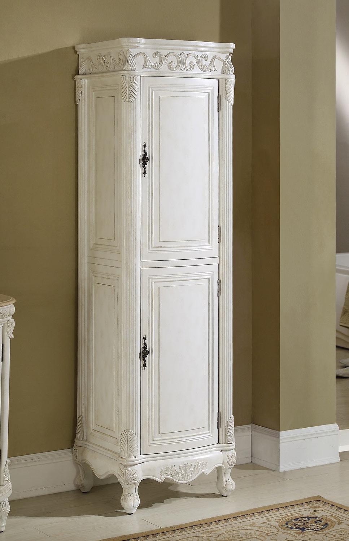 Chelsea Home Villa Linen Cabinet - Antique White