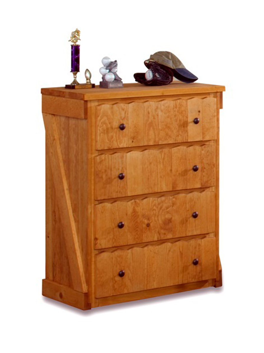 Chelsea Home 3514280 4 Drawer Chest - Driftwood