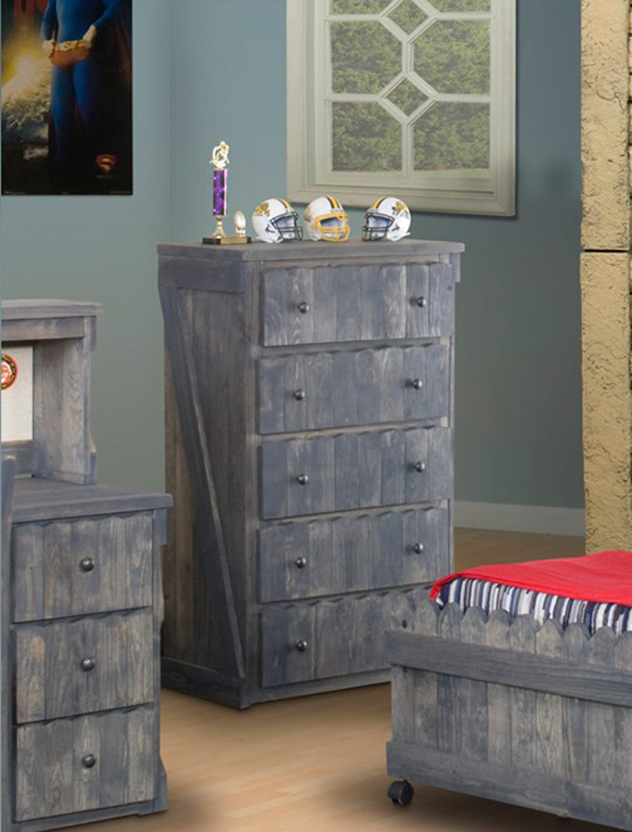 Chelsea Home 3514281 5 Drawer Chest - Driftwood